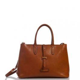 The Bridge Dalston Shopping Tote, Ladies leather handbag brown