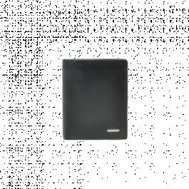 Herrengeldbörse aus Leder, schwarz