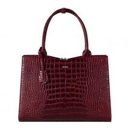 Socha Businessbag crocodile, Laptoptasche 15.6 Zoll für Damen