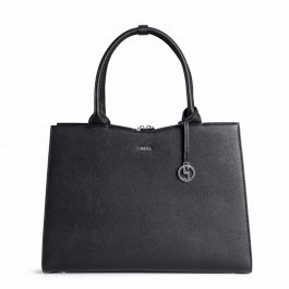 "Socha Straight Line Business bag Black, laptoptas 15"" voor dames"
