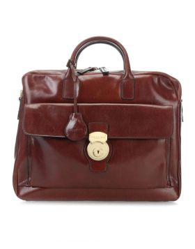 "The Bridge Capalbio Briefcase 15"" cow leather, bordeaux"